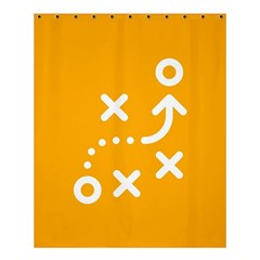 Sign Yellow Strategic Simplicity Round Times Shower Curtain 60  x 72  (Medium)