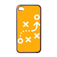 Sign Yellow Strategic Simplicity Round Times Apple iPhone 4 Case (Black)