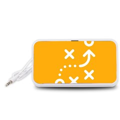 Sign Yellow Strategic Simplicity Round Times Portable Speaker (White)