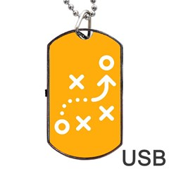 Sign Yellow Strategic Simplicity Round Times Dog Tag USB Flash (One Side)