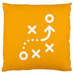 Sign Yellow Strategic Simplicity Round Times Large Cushion Case (Two Sides)