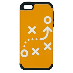 Sign Yellow Strategic Simplicity Round Times Apple iPhone 5 Hardshell Case (PC+Silicone)