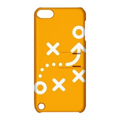 Sign Yellow Strategic Simplicity Round Times Apple iPod Touch 5 Hardshell Case with Stand