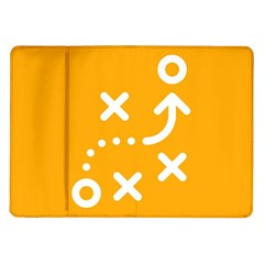 Sign Yellow Strategic Simplicity Round Times Samsung Galaxy Tab 10.1  P7500 Flip Case