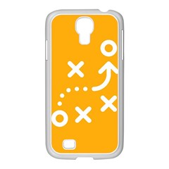 Sign Yellow Strategic Simplicity Round Times Samsung Galaxy S4 I9500/ I9505 Case (white)