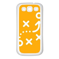 Sign Yellow Strategic Simplicity Round Times Samsung Galaxy S3 Back Case (White)