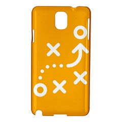 Sign Yellow Strategic Simplicity Round Times Samsung Galaxy Note 3 N9005 Hardshell Case