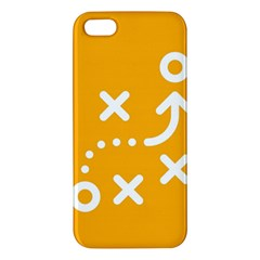 Sign Yellow Strategic Simplicity Round Times iPhone 5S/ SE Premium Hardshell Case