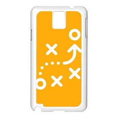 Sign Yellow Strategic Simplicity Round Times Samsung Galaxy Note 3 N9005 Case (White)
