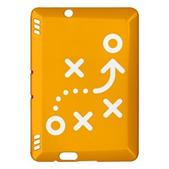 Sign Yellow Strategic Simplicity Round Times Kindle Fire HDX Hardshell Case