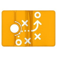 Sign Yellow Strategic Simplicity Round Times Kindle Fire HDX Flip 360 Case
