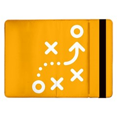 Sign Yellow Strategic Simplicity Round Times Samsung Galaxy Tab Pro 12.2  Flip Case