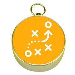 Sign Yellow Strategic Simplicity Round Times Gold Compasses