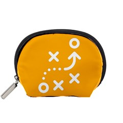 Sign Yellow Strategic Simplicity Round Times Accessory Pouches (Small)
