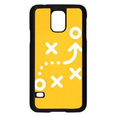 Sign Yellow Strategic Simplicity Round Times Samsung Galaxy S5 Case (Black)