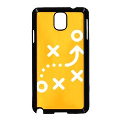 Sign Yellow Strategic Simplicity Round Times Samsung Galaxy Note 3 Neo Hardshell Case (Black)