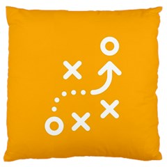 Sign Yellow Strategic Simplicity Round Times Standard Flano Cushion Case (One Side)