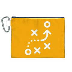 Sign Yellow Strategic Simplicity Round Times Canvas Cosmetic Bag (XL)