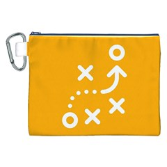 Sign Yellow Strategic Simplicity Round Times Canvas Cosmetic Bag (XXL)