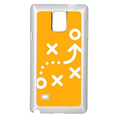 Sign Yellow Strategic Simplicity Round Times Samsung Galaxy Note 4 Case (White)