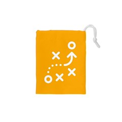 Sign Yellow Strategic Simplicity Round Times Drawstring Pouches (XS)