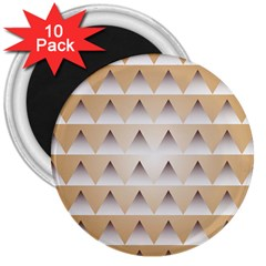 Pattern Retro Background Texture 3  Magnets (10 pack)