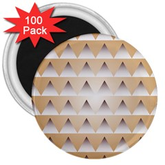 Pattern Retro Background Texture 3  Magnets (100 pack)