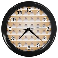 Pattern Retro Background Texture Wall Clocks (Black)