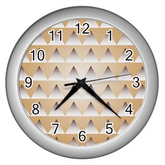 Pattern Retro Background Texture Wall Clocks (Silver)