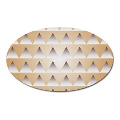 Pattern Retro Background Texture Oval Magnet