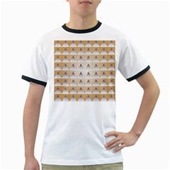 Pattern Retro Background Texture Ringer T-Shirts