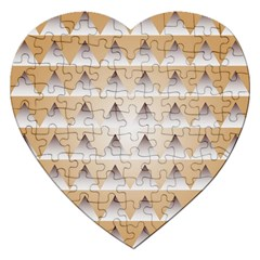 Pattern Retro Background Texture Jigsaw Puzzle (heart)