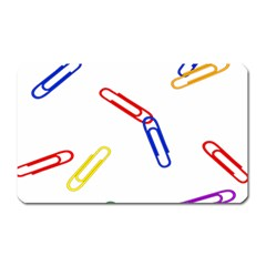 Scattered Colorful Paper Clips Magnet (Rectangular)