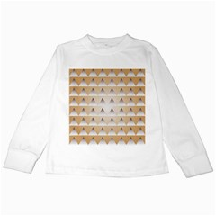 Pattern Retro Background Texture Kids Long Sleeve T-Shirts