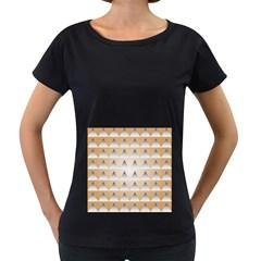 Pattern Retro Background Texture Women s Loose-Fit T-Shirt (Black)