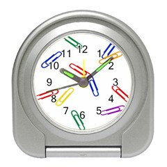 Scattered Colorful Paper Clips Travel Alarm Clocks