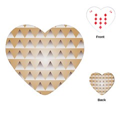Pattern Retro Background Texture Playing Cards (heart)