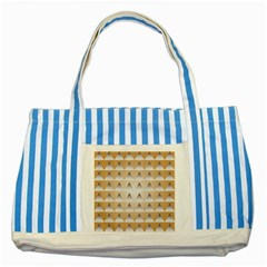 Pattern Retro Background Texture Striped Blue Tote Bag