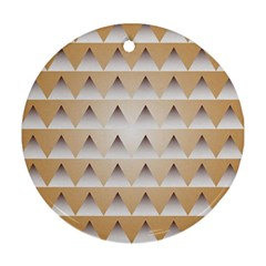 Pattern Retro Background Texture Round Ornament (Two Sides)