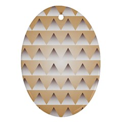 Pattern Retro Background Texture Oval Ornament (Two Sides)