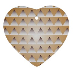 Pattern Retro Background Texture Heart Ornament (Two Sides)