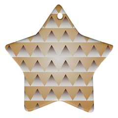Pattern Retro Background Texture Star Ornament (Two Sides)