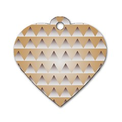 Pattern Retro Background Texture Dog Tag Heart (Two Sides)