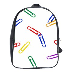 Scattered Colorful Paper Clips School Bags(Large)