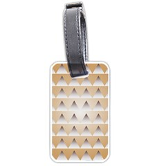 Pattern Retro Background Texture Luggage Tags (Two Sides)