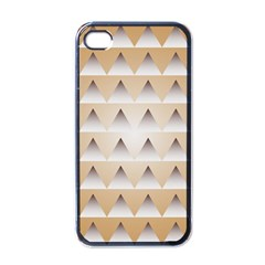 Pattern Retro Background Texture Apple iPhone 4 Case (Black)