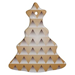 Pattern Retro Background Texture Christmas Tree Ornament (Two Sides)