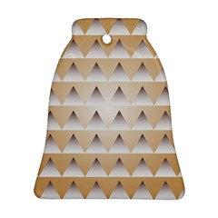Pattern Retro Background Texture Bell Ornament (Two Sides)