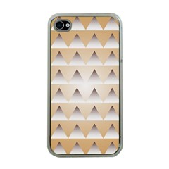 Pattern Retro Background Texture Apple iPhone 4 Case (Clear)