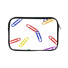 Scattered Colorful Paper Clips Apple iPad Mini Zipper Cases